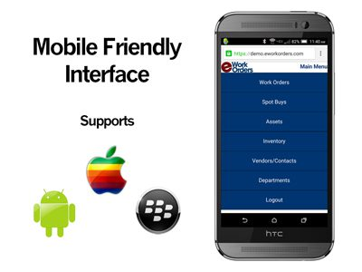 Mobile Friendly CMMS Interface